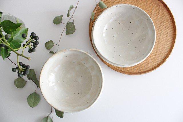 美濃焼 粉引削りどんぶり鉢 陶器  画像2