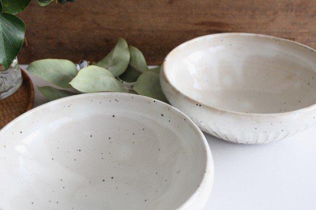 美濃焼 粉引削りどんぶり鉢 陶器  画像5