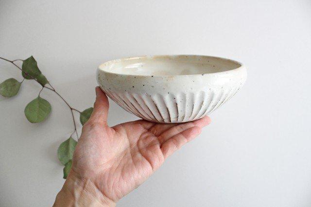 美濃焼 粉引削りどんぶり鉢 陶器  画像6