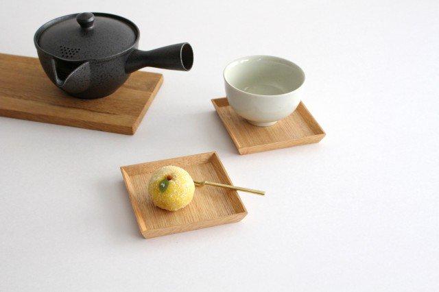 タモ白木塗 木製銘々皿コースター 松屋漆器店