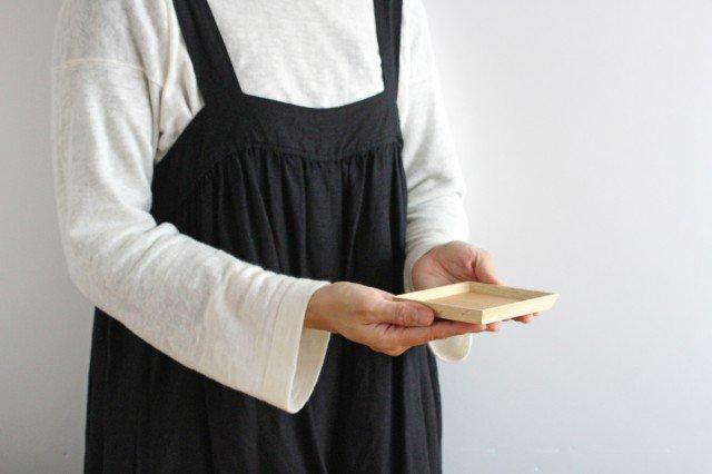 タモ白木塗 木製銘々皿コースター 松屋漆器店 画像3