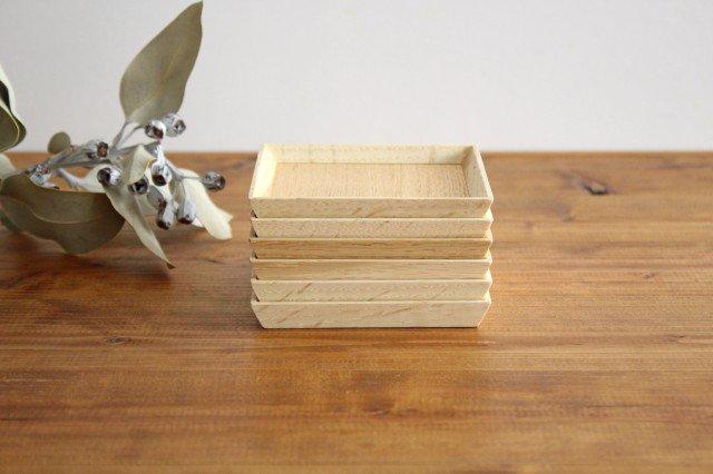 タモ白木塗 木製銘々皿コースター 松屋漆器店 画像4