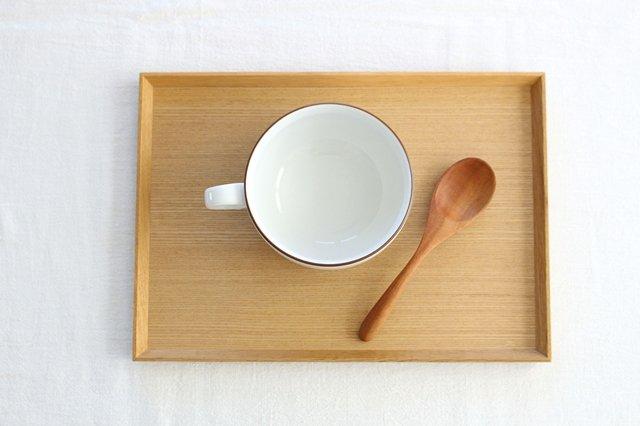 タモ白木塗 木製スープトレー 松屋漆器店 画像2