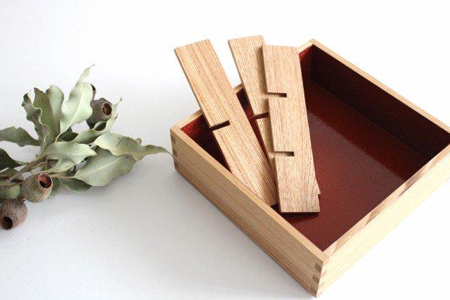 タモ白木塗 重箱用仕切り (六つ切) 松屋漆器店 画像2
