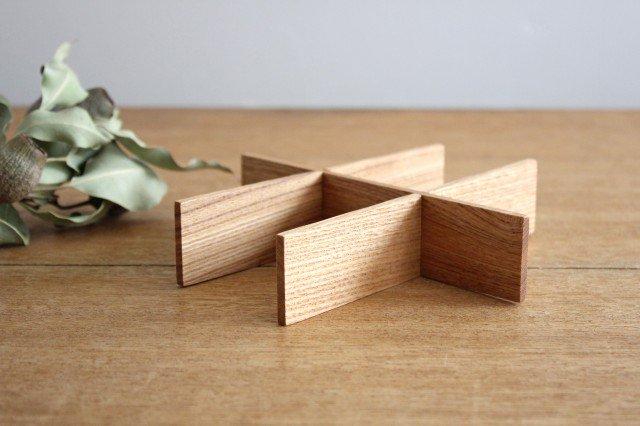タモ白木塗 重箱用仕切り (六つ切) 松屋漆器店 画像3