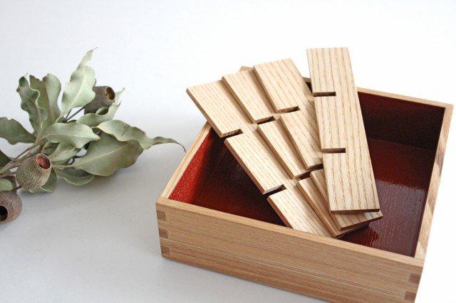 タモ白木塗 重箱用仕切り(九つ切) 松屋漆器店 画像5