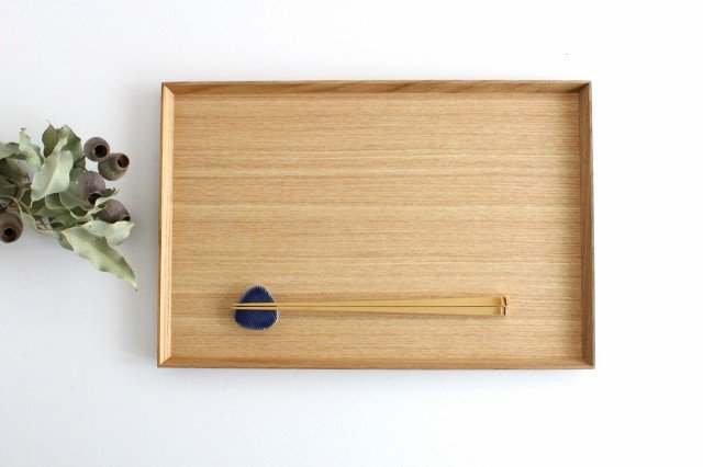 タモ白木塗 木製長角トレー 松屋漆器店 画像4