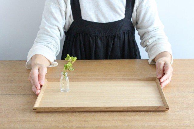 タモ白木塗 木製長角トレー 松屋漆器店 画像5