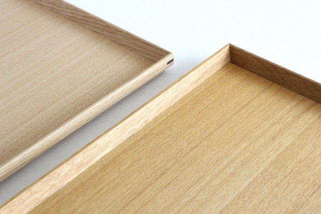 タモ白木塗 木製正角トレー 松屋漆器店 画像5