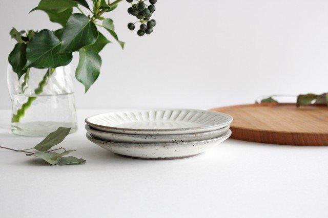 美濃焼 粉引削り取皿 陶器 画像2