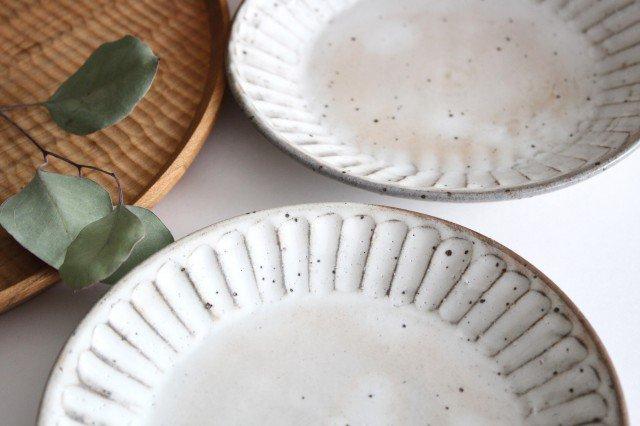 美濃焼 粉引削り取皿 陶器 画像3