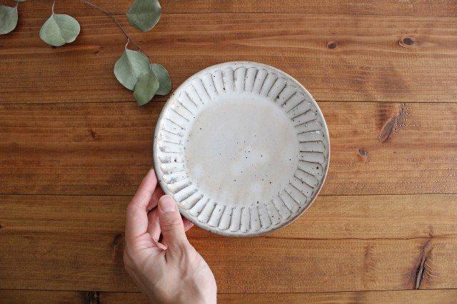 美濃焼 粉引削り取皿 陶器 画像4