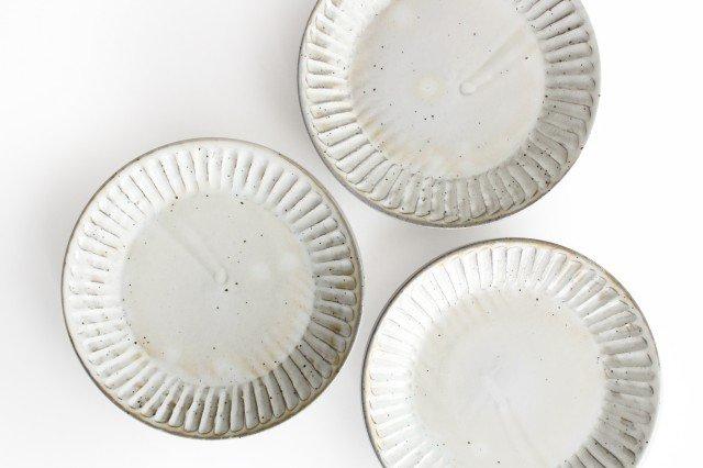 美濃焼 粉引削り大皿 陶器 画像3