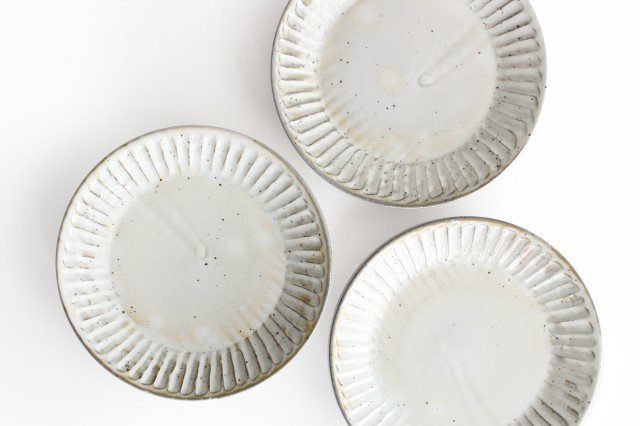 粉引削り大皿 陶器 美濃焼 画像3