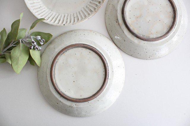 美濃焼 粉引削り大皿 陶器 画像4