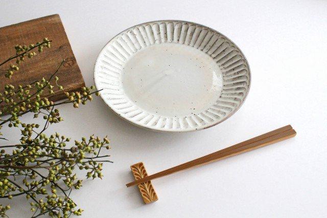 美濃焼 粉引削り大皿 陶器 画像5