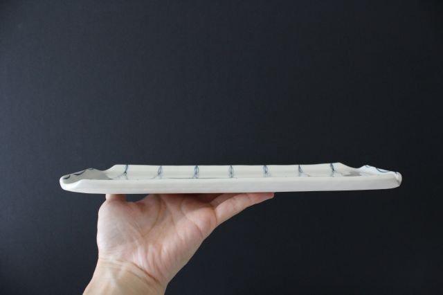 長板皿 リーフ 陶器 村田亜希 益子焼 画像5