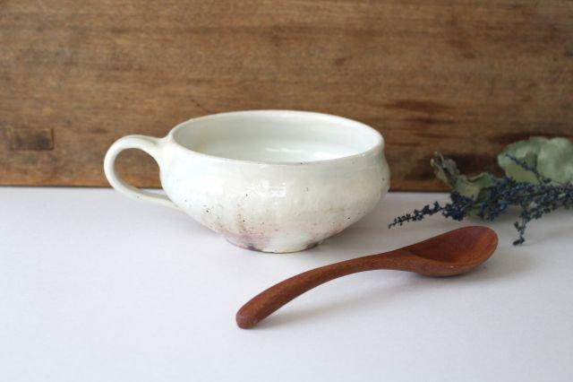 鉄散 持ち手つきスープカップ 外荒窯変 陶器 古谷製陶所