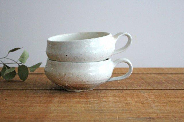 鉄散 持ち手つきスープカップ 外荒窯変 陶器 古谷製陶所 画像6