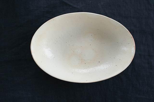 鉄散 楕円深鉢 陶器 古谷製陶所 画像2