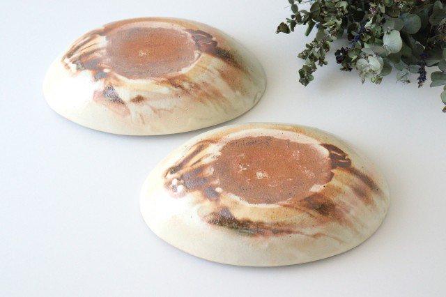 鉄散 楕円深鉢 陶器 古谷製陶所 画像6