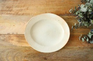 鉄散 楕円リム皿 陶器 古谷製陶所商品画像