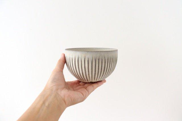 ボウル S しのぎ 陶器 シモヤユミコ 画像5