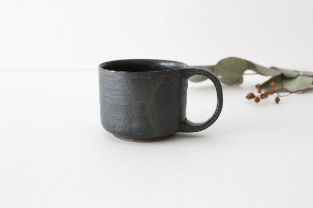 マグカップ こげ茶 陶器 たくまポタリー