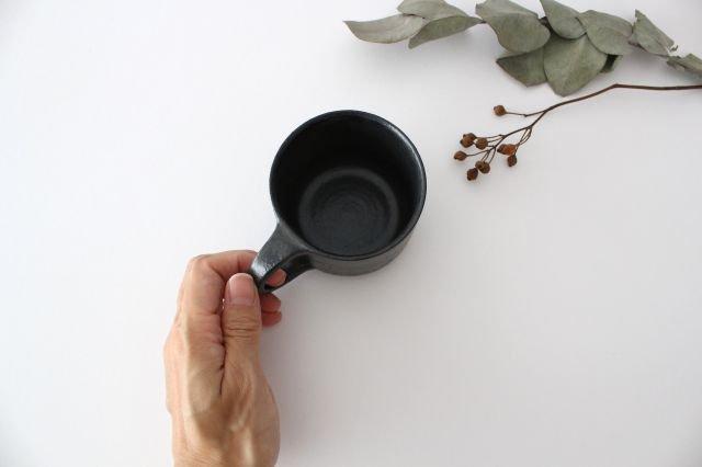 マグカップ こげ茶 陶器 たくまポタリー 画像2