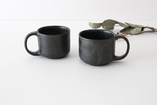 マグカップ こげ茶 陶器 たくまポタリー 画像3