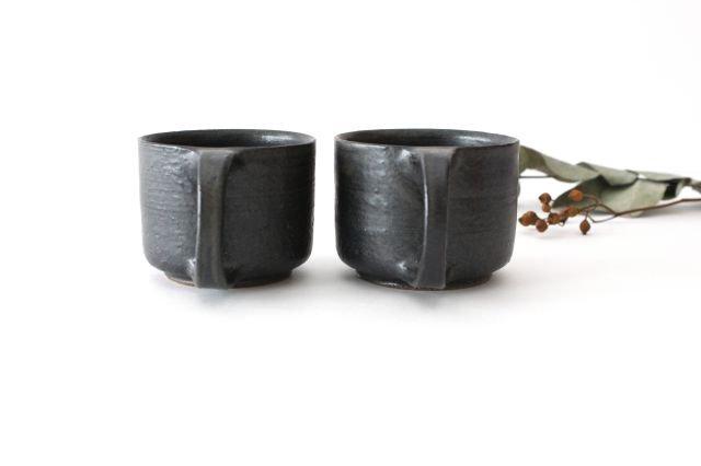 マグカップ こげ茶 陶器 たくまポタリー 画像5