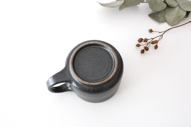 マグカップ こげ茶 陶器 たくまポタリー 画像6