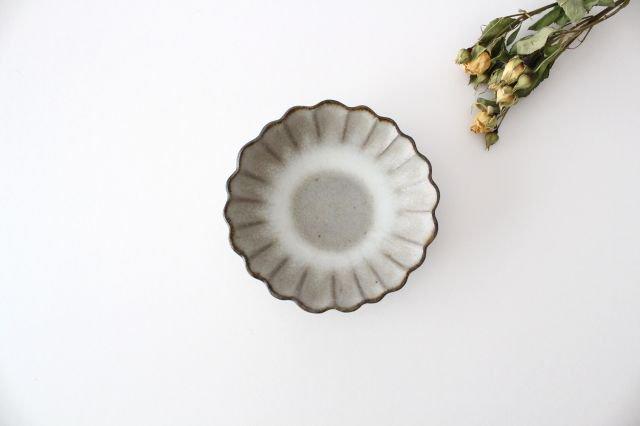 小皿 ハナ グレーマット 陶器 たくまポタリー