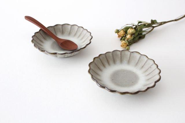 小皿 ハナ グレーマット 陶器 たくまポタリー 画像2