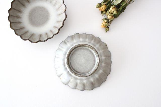 小皿 ハナ グレーマット 陶器 たくまポタリー 画像3