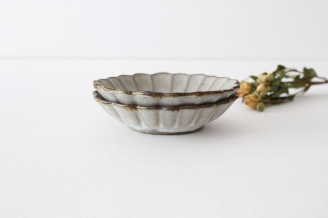 小皿 ハナ グレーマット 陶器 たくまポタリー 画像6