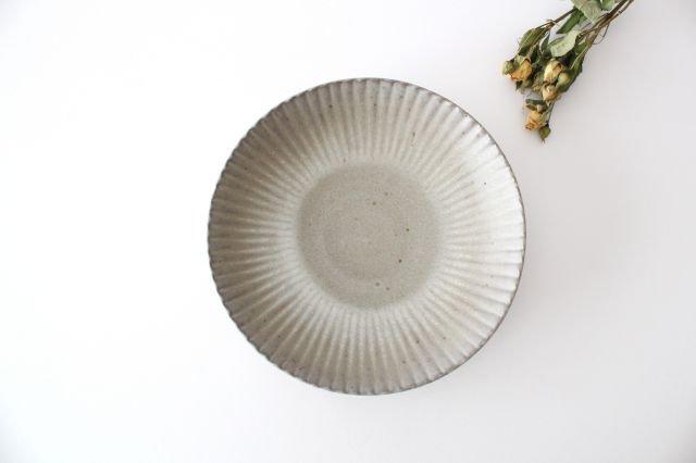 6寸皿 まる菊 グレーマット 陶器 たくまポタリー