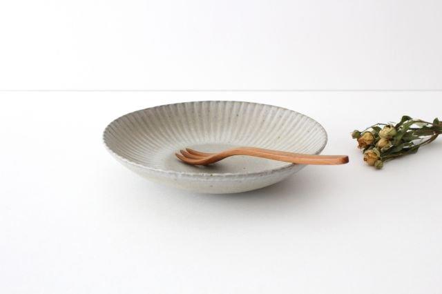 6寸皿 まる菊 グレーマット 陶器 たくまポタリー 画像2