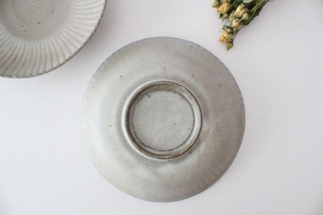 6寸皿 まる菊 グレーマット 陶器 たくまポタリー 画像4
