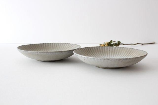 6寸皿 まる菊 グレーマット 陶器 たくまポタリー 画像6
