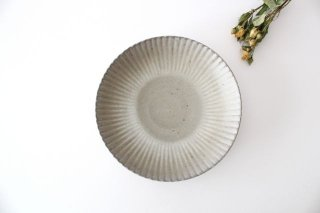 6寸皿 まる菊 グレーマット 陶器 たくまポタリー商品画像