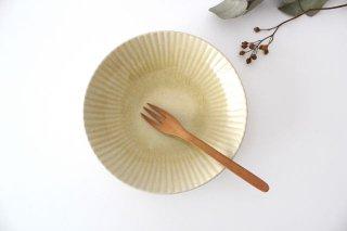 6寸皿 まる菊 灰釉(薄黄色) 陶器 たくまポタリー商品画像