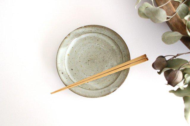5.5寸リム皿 林檎灰釉 陶器 寺村光輔 画像3