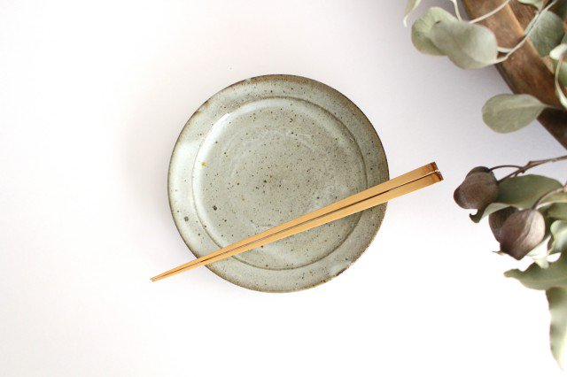 林檎灰釉 5.5寸リム皿 陶器 寺村光輔 画像3