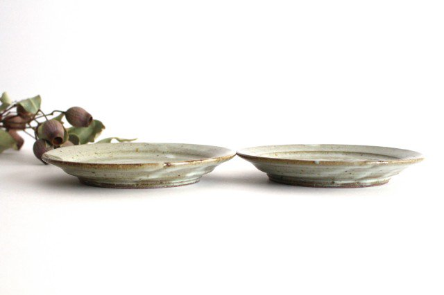 5.5寸リム皿 林檎灰釉 陶器 寺村光輔 画像5