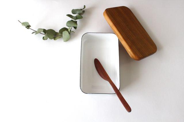 ナチュラルな木のバターナイフ 画像3