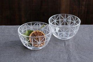 KIRIKOボウル ミニ 格子花 ガラス atelierALI-BAB山口未来商品画像