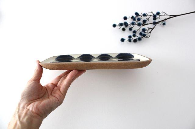 角皿 大 水玉 陶器 一翠窯 画像3