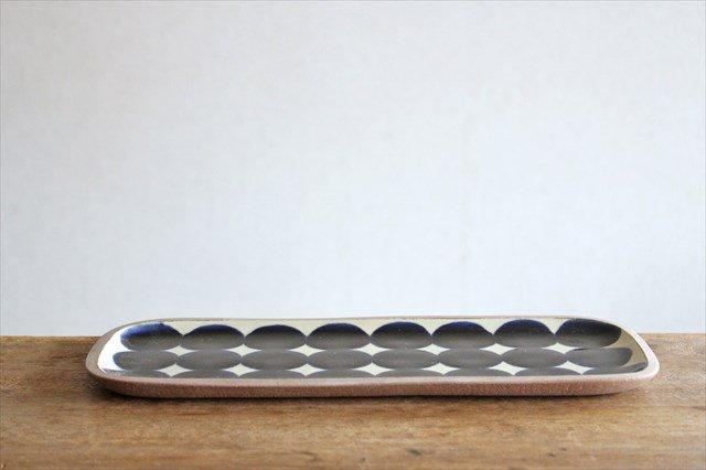 角皿 長方 水玉 陶器 一翠窯 やちむん 画像4