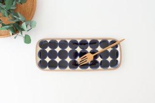 角皿 長方 水玉 陶器 一翠窯商品画像